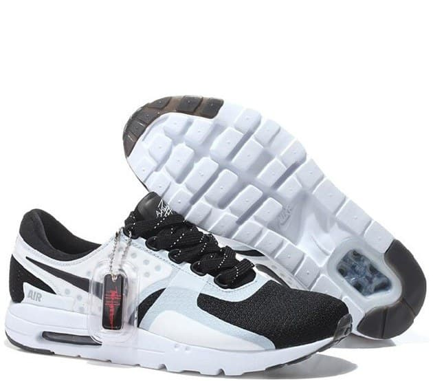 Nike Air Max Zero Black/White Чёрно-белые (41-45) Арт-13503