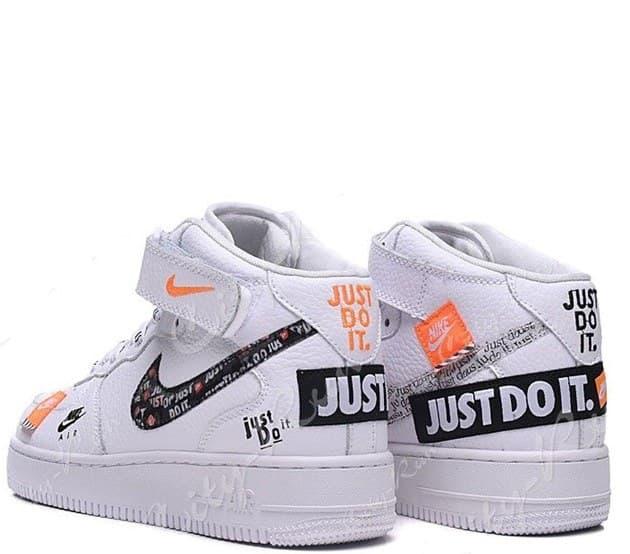 dcf080fe Nike Air Force (Найк Аир Форс) LV8 «Just Do It» белые высокие ...