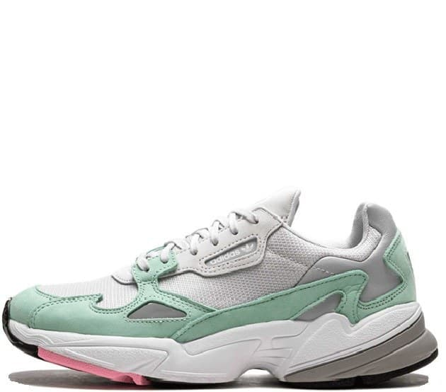Adidas Falcon grey/green (36-40) арт-13687