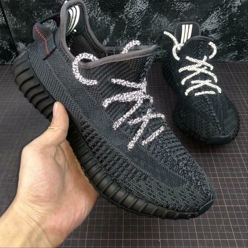 Adidas Yeezy Boost 350 V2 Glow in Dark Black (36-45) Арт-13849
