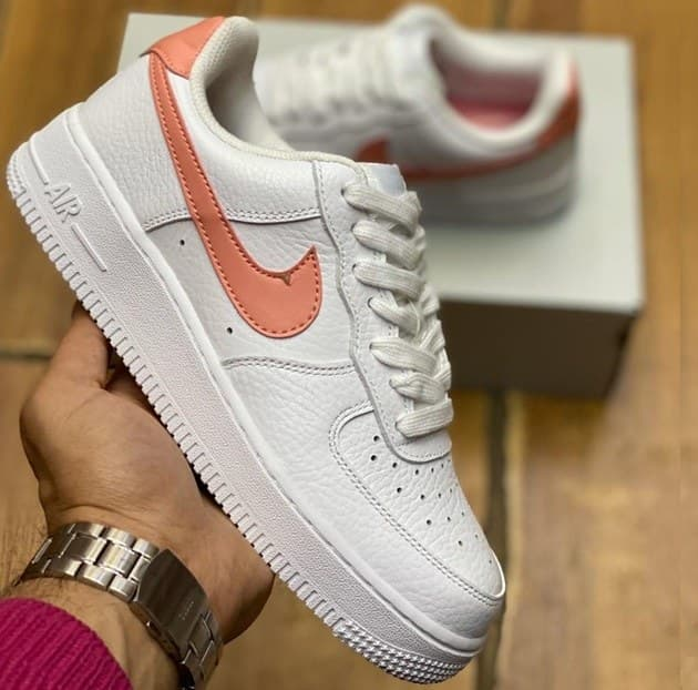 Nike Air Force white & orange (41-45) Арт-13906