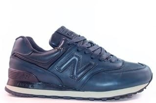 New Balance 574 Leather Dark Blue (41-44) Арт-303