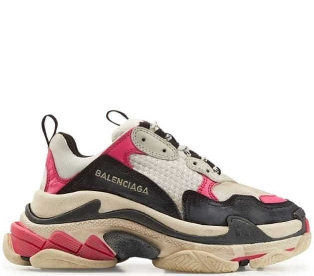 Balenciaga Triple S Black/White/Pink (36-40) Арт-214BA