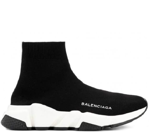 Кроссовки Balenciaga Speed Trainer Black/White (36-45) Арт-216BA