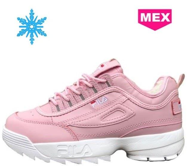 Fila Disruptor Зимние с Мехом Кожаные Розовые Pink (36-40 EUR) Арт-1867 00139820495