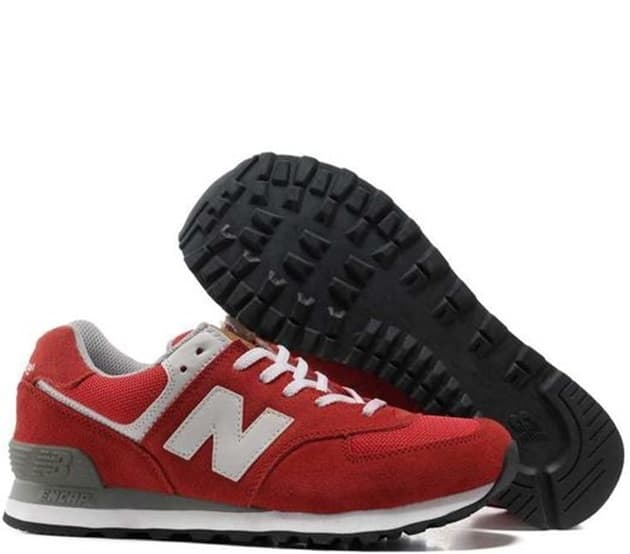 New Balance 574 Red and white (36-44) Арт-275
