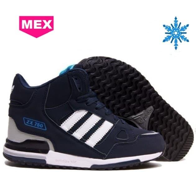 7698cb1a Купить недорого Зимние кроссовки Adidas ZX-750 (Адидас) чёрные с ...