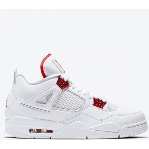 Nike Air Jordan 4 Retro White & Red (36-40) код: 14026