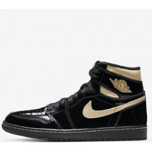 Nike Air Jordan 1 Retro Black Metallic & Gold (36-45) Арт-14031