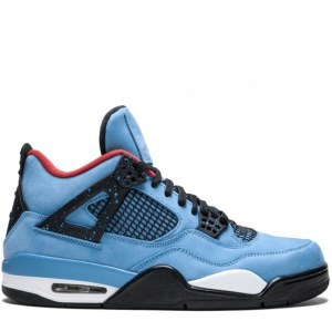 Nike Air Jordan 4 retro Travis Scott Cactus Jack Blue (41-45) Арт-14033
