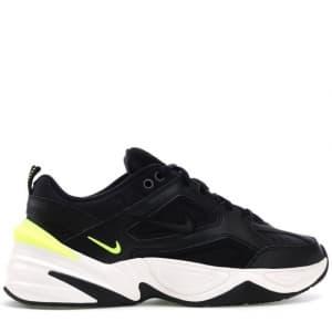 Nike M2K Tekno Чёрно-белые с жёлтым (36-44) Арт-1833