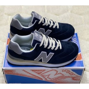New Balance 574 suede dark blue (41-46) Арт-264